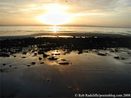 west beach llandudno sunset poetry